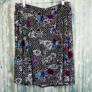 Torrid floral dotted skater skirt